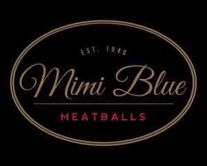 Mimi Blue Meatball Logo